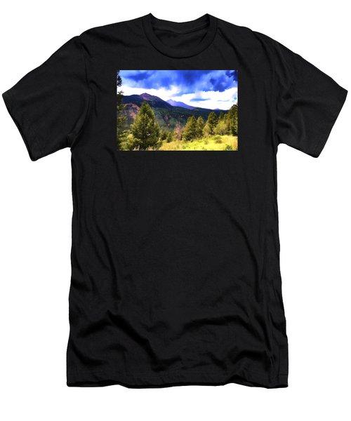 Colorado Watercolor Men's T-Shirt (Athletic Fit)