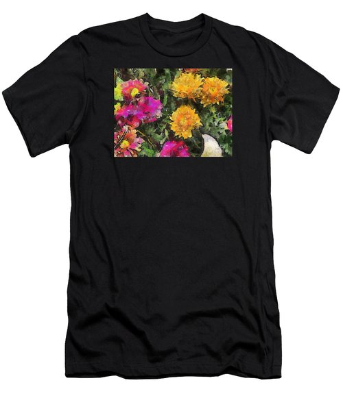 Colored Flowers Men's T-Shirt (Athletic Fit)