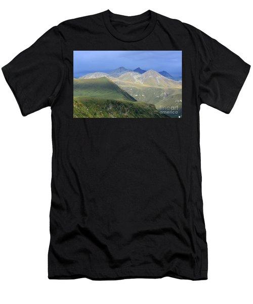 Colored Peaks Of The Caucasus Men's T-Shirt (Athletic Fit)