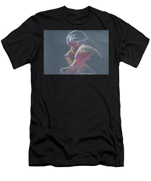 Colored Pencil Sketch Men's T-Shirt (Athletic Fit)