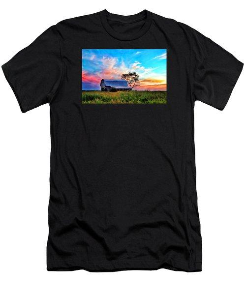 Colored Sunrise Men's T-Shirt (Athletic Fit)