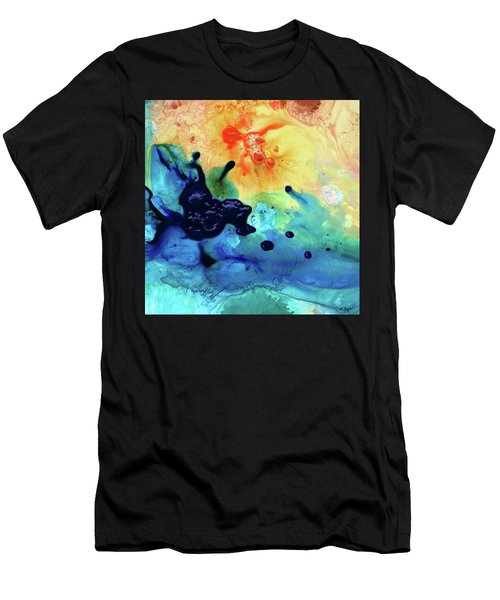 Colorful Abstract Art - Blue Waters - Sharon Cummings Men's T-Shirt (Athletic Fit)
