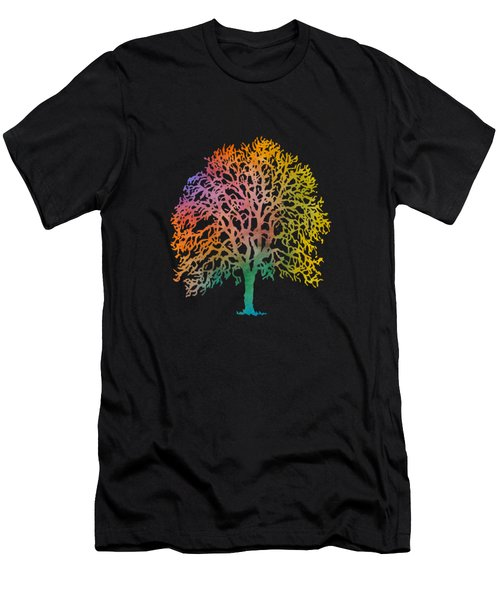 Colorful Abstract Painting Men's T-Shirt (Athletic Fit)