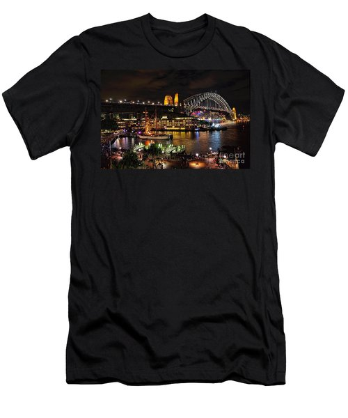 Colorful Activity Sydney Harbour By Kaye Menner Men's T-Shirt (Athletic Fit)