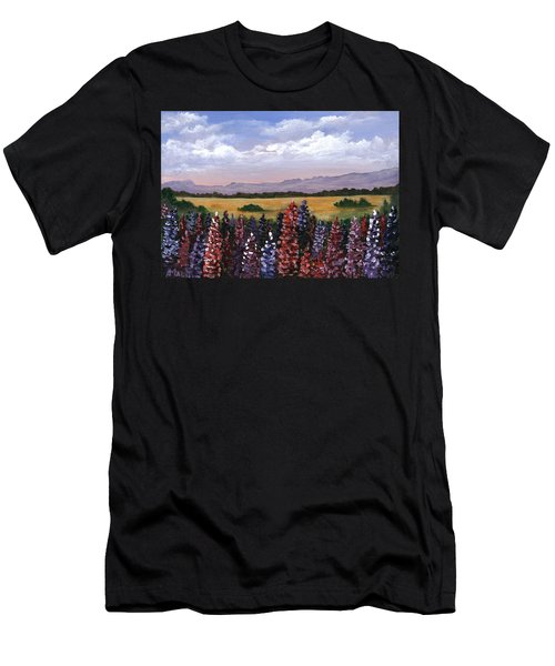 Men's T-Shirt (Athletic Fit) featuring the painting Colorful Afternoon by Anastasiya Malakhova