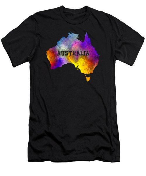 Colorful Australia Men's T-Shirt (Athletic Fit)