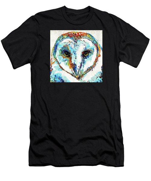 Colorful Barn Owl Art - Sharon Cummings Men's T-Shirt (Athletic Fit)