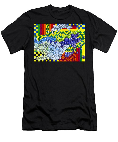 Colorful Bubbles On Tiles Men's T-Shirt (Athletic Fit)