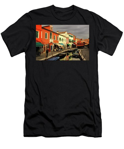 Colorful Burano Men's T-Shirt (Athletic Fit)