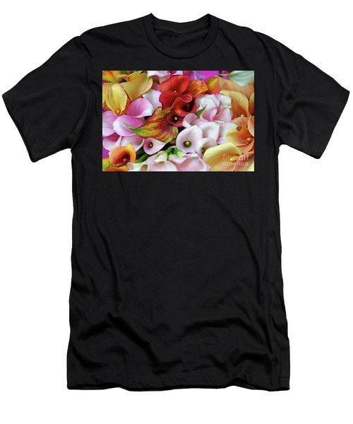 Colorful Calla Lilies Men's T-Shirt (Athletic Fit)