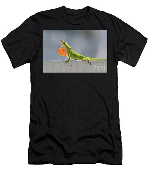 Colorful Carolina Anole Lizard Men's T-Shirt (Athletic Fit)