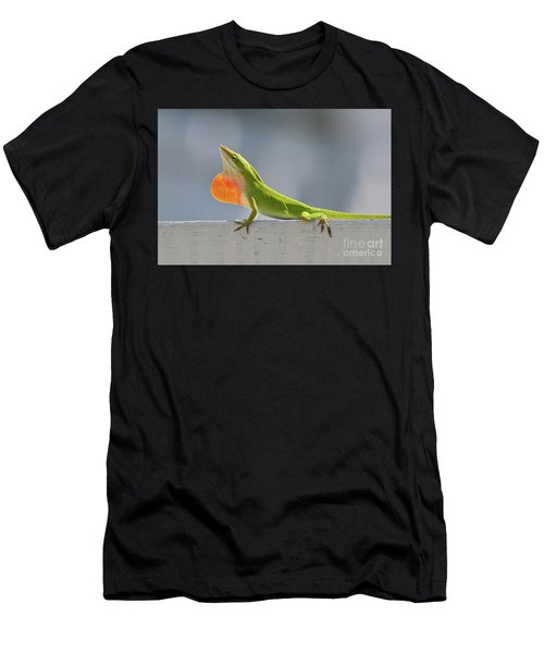 Colorful Carolina Anole Lizard Men's T-Shirt (Athletic Fit)