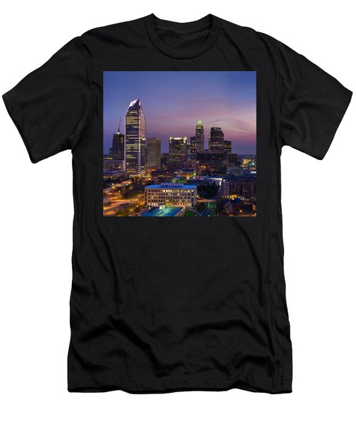 Colorful Charlotte Men's T-Shirt (Slim Fit) by Serge Skiba