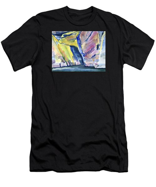 Colorful Cliffs And Cave Men's T-Shirt (Athletic Fit)