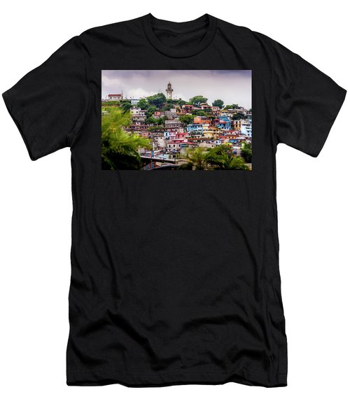 Colorful Houses On The Hill Men's T-Shirt (Athletic Fit)