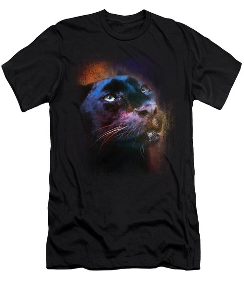 Colorful Expressions Black Leopard Men's T-Shirt (Athletic Fit)