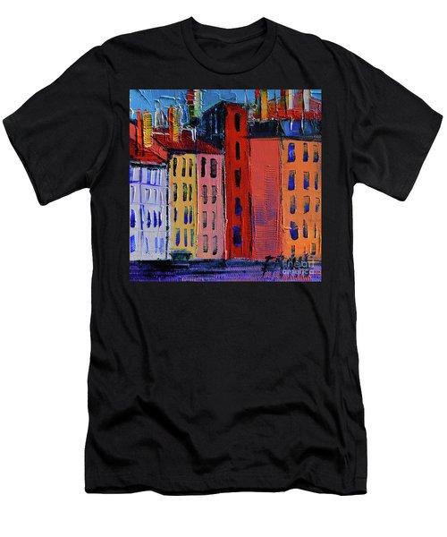 Colorful Facades Men's T-Shirt (Athletic Fit)