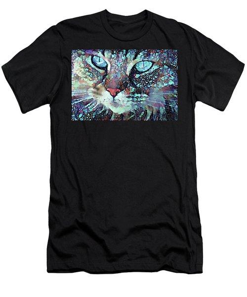 Colorful Flower Cat Art - A Cat Called Blue Men's T-Shirt (Athletic Fit)