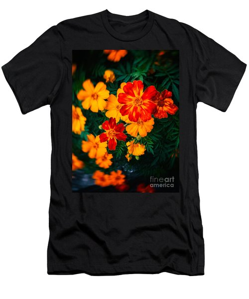 Men's T-Shirt (Slim Fit) featuring the photograph Colorful Flowers by Silvia Ganora