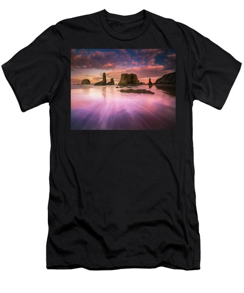 Colorful Flux From Seastacks Men's T-Shirt (Athletic Fit)