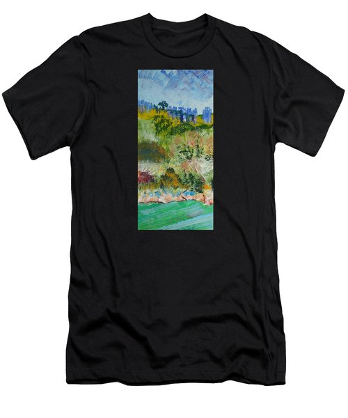 Colorful Forest On Cliffs Near The Sea In Dartmouth Devon Men's T-Shirt (Athletic Fit)