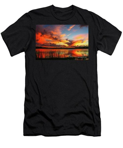 Colorful Fort Pierce Sunset Men's T-Shirt (Athletic Fit)