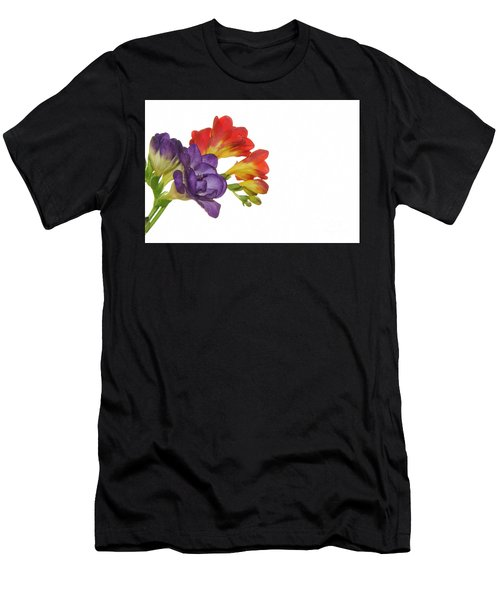 Colorful Freesias Men's T-Shirt (Athletic Fit)