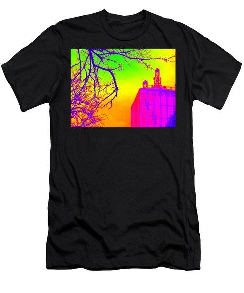 Dallas In Vivid Colors Men's T-Shirt (Athletic Fit)