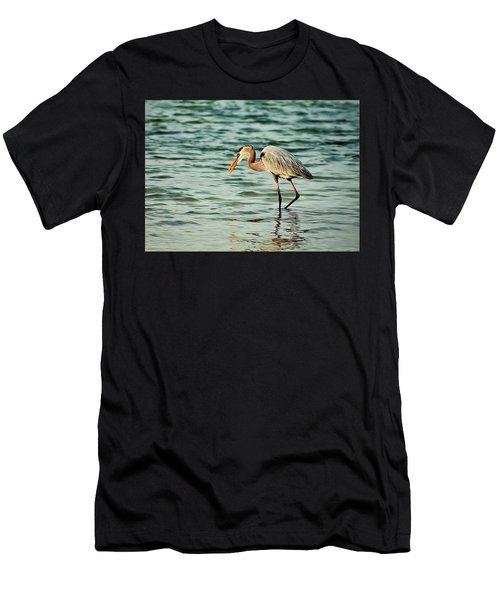 Colorful Heron Men's T-Shirt (Athletic Fit)