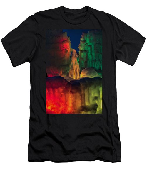 Colorful Ice  Men's T-Shirt (Athletic Fit)