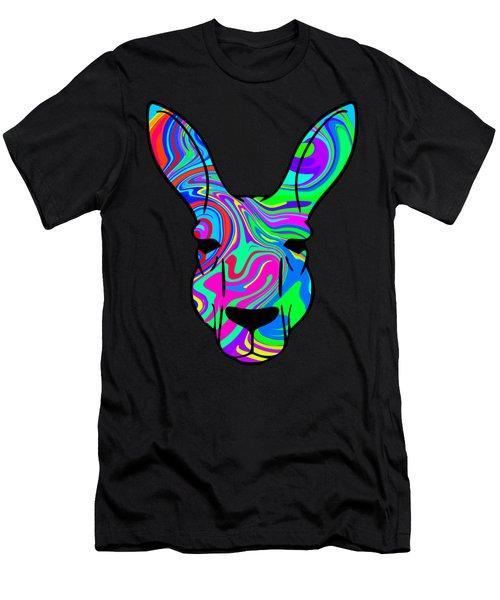 Colorful Kangaroo Men's T-Shirt (Athletic Fit)