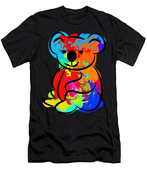 Colorful Koala Men's T-Shirt (Athletic Fit)