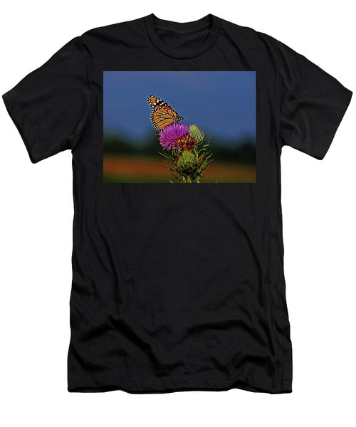 Men's T-Shirt (Slim Fit) featuring the photograph Colorful Monarch by Sandy Keeton
