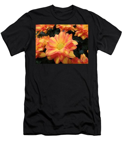 Men's T-Shirt (Slim Fit) featuring the photograph Colorful Mums by Ray Shrewsberry