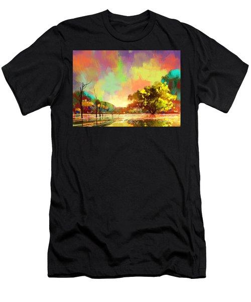 Colorful Natural Men's T-Shirt (Athletic Fit)