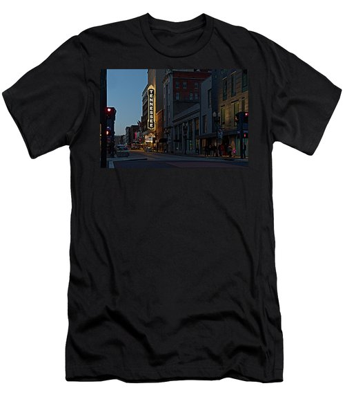 Colorful Night On Gay Street Men's T-Shirt (Athletic Fit)