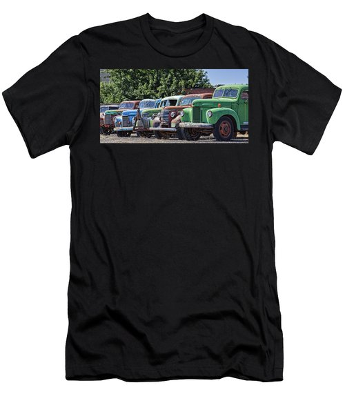 Colorful Old Rusty Cars Men's T-Shirt (Athletic Fit)