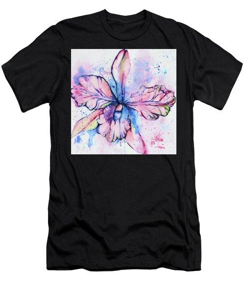 Colorful Orchid Flower Men's T-Shirt (Athletic Fit)