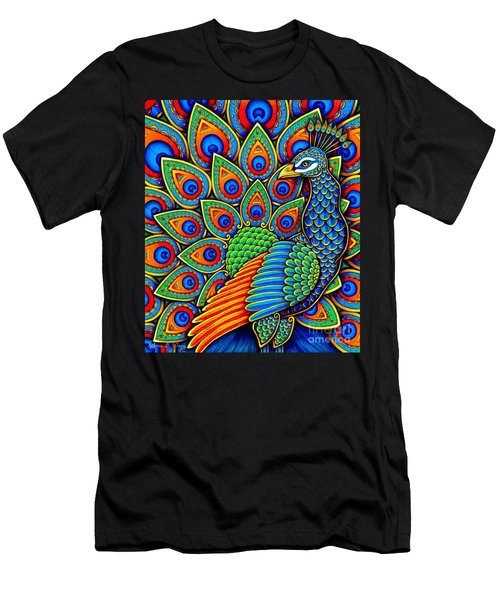 Colorful Paisley Peacock Men's T-Shirt (Athletic Fit)