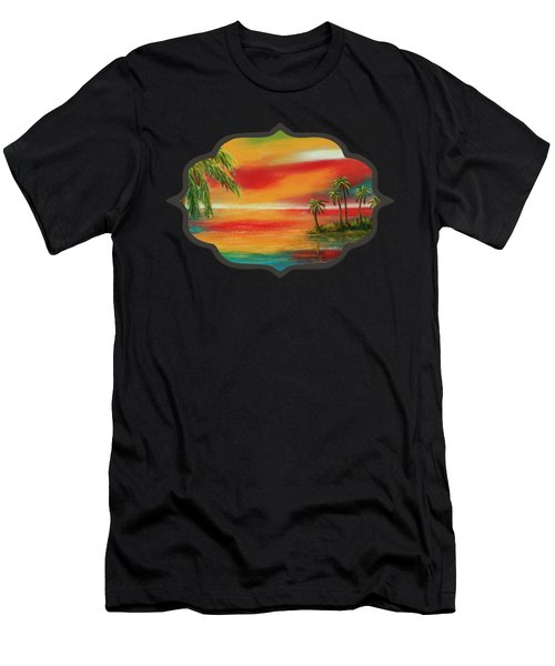 Colorful Paradise Men's T-Shirt (Athletic Fit)