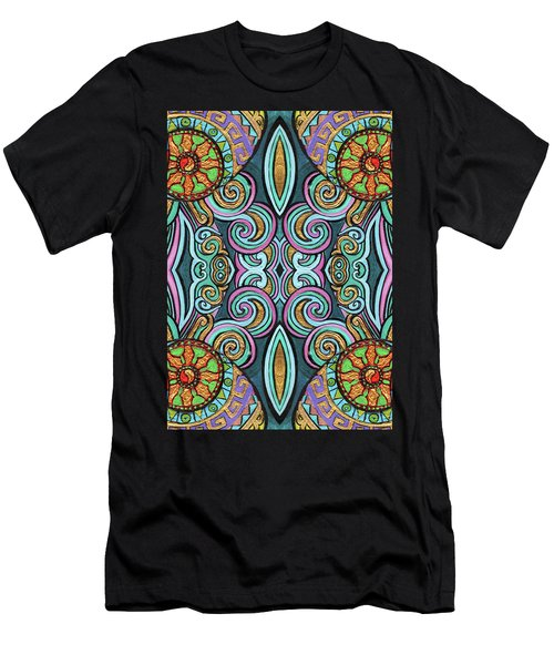 Colorful Psychedelic Men's T-Shirt (Athletic Fit)
