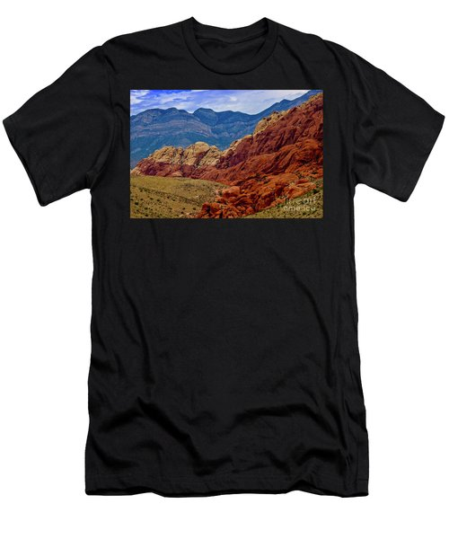 Colorful Red Rock Men's T-Shirt (Athletic Fit)