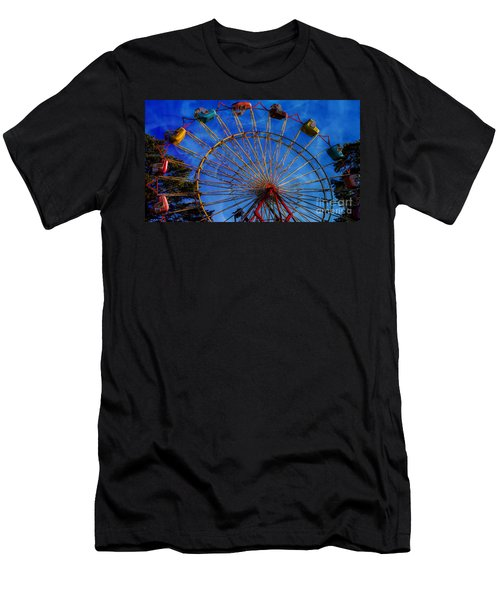 Colorful Ride Men's T-Shirt (Slim Fit) by Sherman Perry