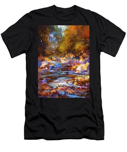 Colorful River Men's T-Shirt (Athletic Fit)