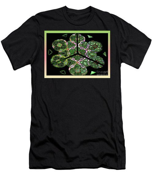 Colorful Rosette In Pink-green Men's T-Shirt (Athletic Fit)