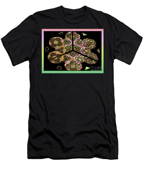 Colorful Rosette In Pink-turquoise Men's T-Shirt (Athletic Fit)