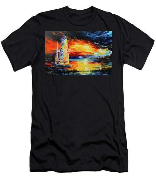 Colorful Sail Men's T-Shirt (Athletic Fit)