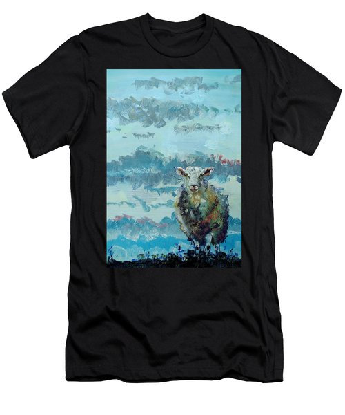 Colorful Sheep Art - Out Of The Stormy Sky Men's T-Shirt (Athletic Fit)