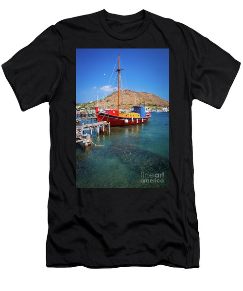 Colorful Ship Men's T-Shirt (Athletic Fit)