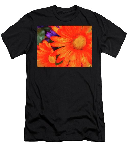 Men's T-Shirt (Athletic Fit) featuring the photograph Colorful Silk Flowers by SR Green